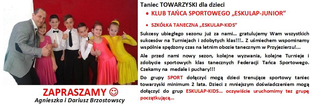 Taniec TOWARZYSKI ESKULAP- info START 2017
